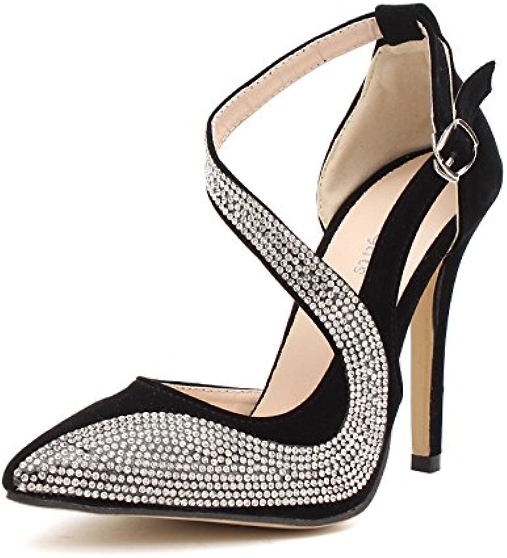 Discotecas europeas y americanas como los zapatos de zapatos de tacón alto ultra elegantes con perforación de...