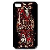 Custom Cover Urlaub Geschenke m-04Musik Band Lamb of God schwarz bedruckt mit Hard Shell Case für iPhone 4/4S
