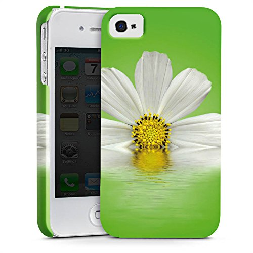 Apple iPhone X Silikon Hülle Case Schutzhülle Gänseblümchen Blume Blüte Premium Case glänzend