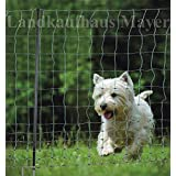 Hundezaun Katzenzaun Hühnerzaun 15m grün +6 Pfähle Hütezaun Hütenetz Hunde/Katzen-Zaun Einzäunung