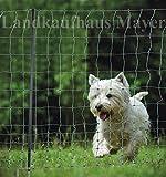 Bild: Hundezaun Katzenzaun Hühnerzaun 15m grün 105cm höhe 6 Pfähle Hütezaun Hütenetz HundeKatzenZaun Einzäunung