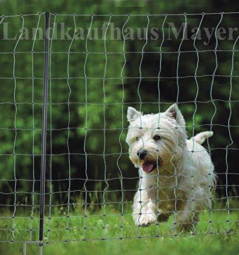 Hundezaun Katzenzaun Hühnerzaun 15m grün 105cm höhe +6 Pfähle Hütezaun Hütenetz Hunde/Katzen-Zaun Einzäunung Test