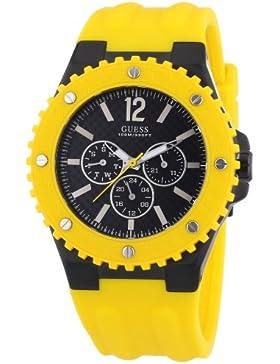Guess Herren-Armbanduhr XL Overdrive Multifunktion Analog Quarz Silikon W11619G5