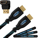 Twisted Veins HDMI 15 Meter Kabel. Extra langes HDMI-Kabel. Einteiliges Kabel mit großer Länge: Alternative Option für HDMI-Verlängerungskabel oder Verlängerung