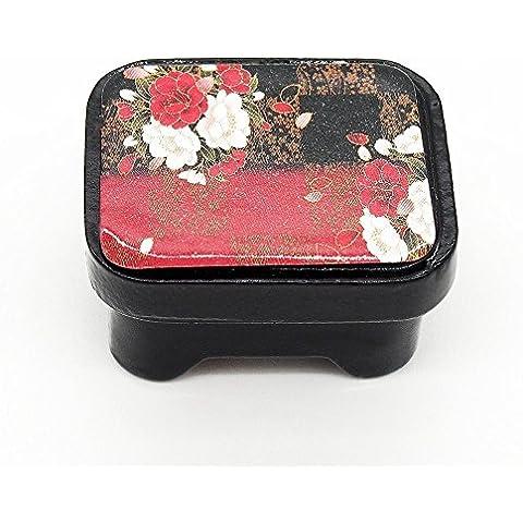 odoria 1/12Miniatura stoviglie in legno contenitore per pane contenitore per il pane rosso giapponese per casa delle bambole cucina