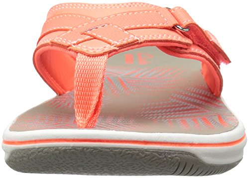 Clarks - Frauen Breeze Sea Flip Flop New Coral Synthetic