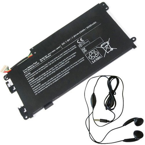 amsahr TSHPA5156U-03 Ersatz Batterie für Toshiba PA5156U, Satellite Click W35DT, W35DT-A3300 - Umfassen Stereo Ohrhörer schwarz