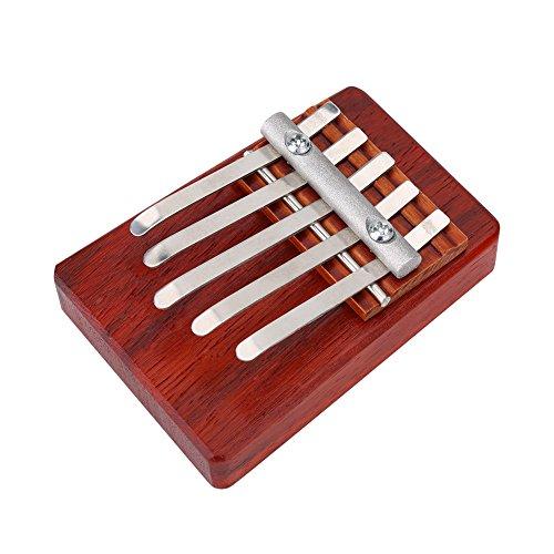 Daumenklavier, 5/6 Tasten Kalimba Palisander Finger Daumen Klavier Musikinstrument Geschenk für Kinder(Rot (5 Schlüssel))