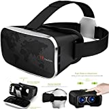 Semoss Universal VR Gafas 3D de Realidad Virtual VR Goggle Ajustable para 4.0 a 6.0 Pulgadas Samsung Galaxy S7 Edge/Galaxy S6 Edge/Galaxy S7/Galaxy S6/iPhone 6/iPhone 6S Plus/LG G3 G4 G5/HTC/Huawei/Nokia/Sony Smartphone