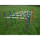 5 x stick in the ground dog agility jumps with fully adjustable height. (due to amazons new postage policy we can only post this item to mainland uk