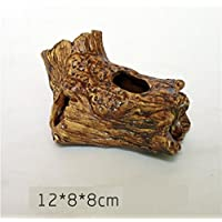 BAOLIJIN Acuario de cerámica Cichlid Shrimp Shrimp Fish Cave Cave House Adorno para camarones Fish Tank Ornament (Color : As Shown, tamaño : 12 * 8 * 8cm)