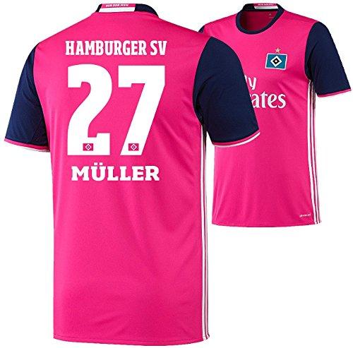 Trikot Adidas Hamburger SV 2016-2017 Away (Müller 27, 164)