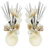 Coppia di fiori artificiali, decorazioni da tavolo, accessori per la casa, regali, ornamenti
