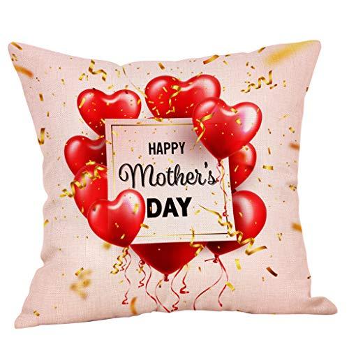 Dasongff Kissenbezüge Muttertagsgeschenk - Liebe Mama Mein größtes Vorbild - Super Muttertagsgeschenke - Verschiedene Muster ()