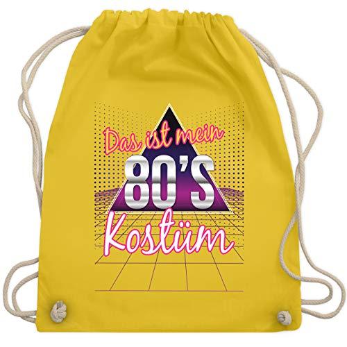 Karneval & Fasching - Das ist mein 80er Jahre Kostüm - Unisize - Gelb - WM110 - Turnbeutel & Gym Bag