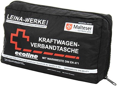 Leina-werke trousse de secours - 11062 compact ecoline avec gilet et velcro noir/rouge blanc