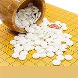 Colección de juegos Go Set con tablero de bambú reversible Go, que incluye tazones y piedras Juego de mesa de estrategia chino clásico para 2 jugadores Diseño de tabla plegable portátil para niños y a