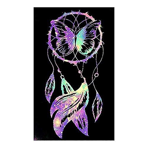 Queta atrapasueños Mariposa Diamante Pintura Bordado Punto de Cruz Dormitorio Sala de Estar decoración Pintura