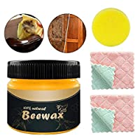 Generp Wood Seasoning Beewax - Wood Polish Traditional Beeswax Furniture Natural Beewax Wood Wax Preservative Conditioner Protectant Home Cleaning - Non Toxic, Beautify Protect Restore a Finish