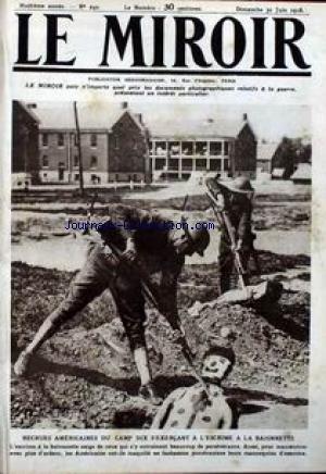 MIROIR (LE) [No 240] du 30/06/1918 - RECRUES AMERICAINES DU CAMP DIX S'EXERCANT A L'ESCRIME A LA BAIONNETTE. par Collectif