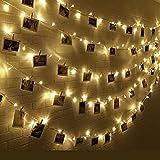 Siarh 10m 100er LED 10M Warmweiß LED Lichterkette LED-Beleuchtung für Valentinstag, Weinachten, Hochzeit Fest und Party