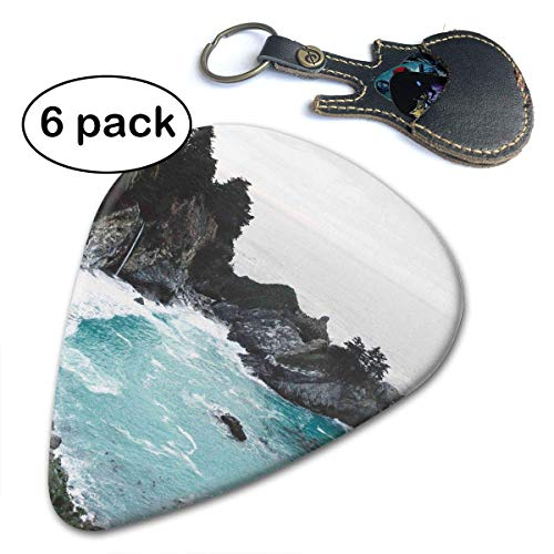 Sea Bay with Rocks,Waves 351 Shape Classic Celluloid Picks 6-Pack.71mm - Bay-cocktail