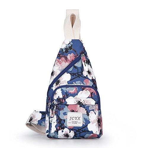 Weihnachtsgeschenke Die Women's Brust Tasche Schultertasche Alle Drucken - Match Brust Pack Schöne Sommer Persönlichkeit Blau