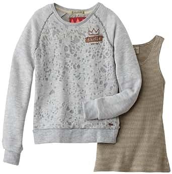 Scotch & Soda R'Belle - sweat-shirt - fille - gris (grey mélange) - 14