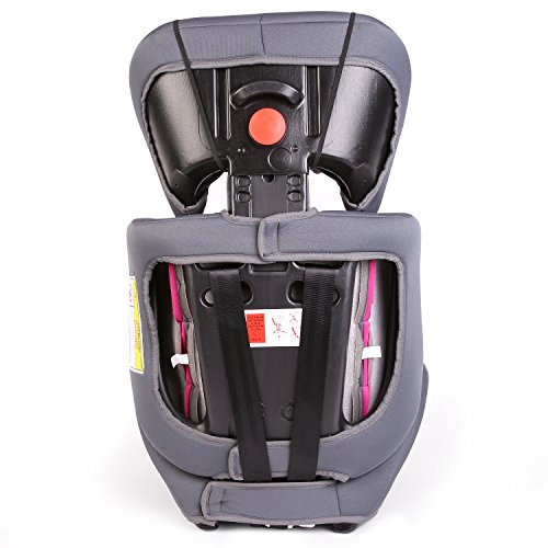 KIDUKU Safety Car Seat | Booster Seat | 3 in 1 Childs Babys from 9-36 kg (20 lbs - 80 lbs) 1-12 Years | Convertible, universal | approved to ECE R44/04 | Group 1 + 2 + 3 | grey/pink  DWD-Company