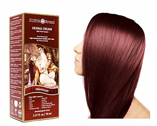 SURYA Brasil - Henna Haarfarbe Creme, Mahagoni, 1x70ml