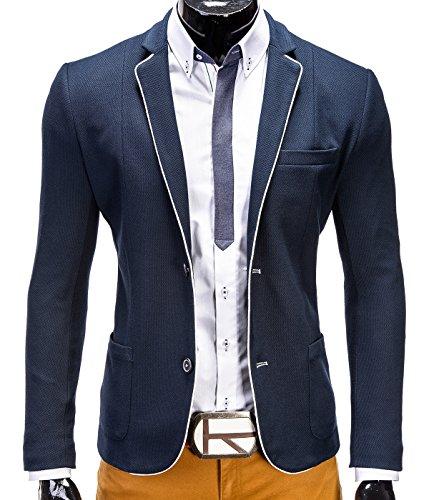 Juan betterStylz blazer pour homme sakko veste pour les loisirs buisiness veste pour homme tailles s à 3XL) DCH Dunkel Blau