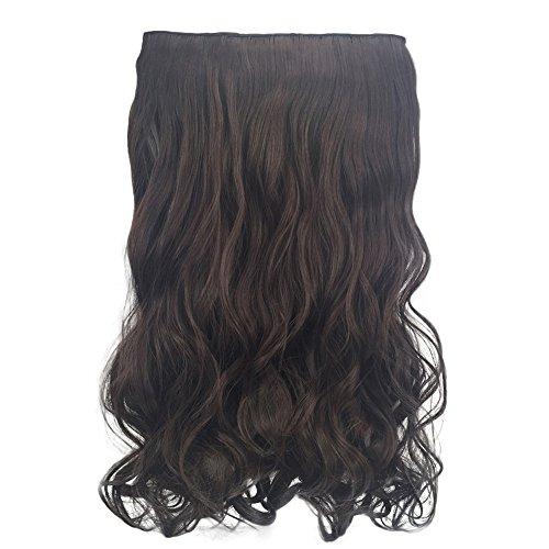 Luckhome 1Pc 5 Clip In Hair Extensions Ombre Haar Haarverlängerungen Stück Lockige Hübsche Frau Mädchen Perücke Haarwelle Rolle Perrücke Perücken Wig Haare ()