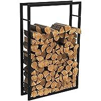 MCTECH® Metall Feuerholzregal Kaminholzregal Brennholzregal Kaminholzständer Kaminholzhalter Holzregal (150*100*25cm)