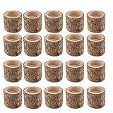 B Blesiya Teelichthalter Holz Kerzenhalter Kerzenständer Tischdeko 5cm - 25 Stück