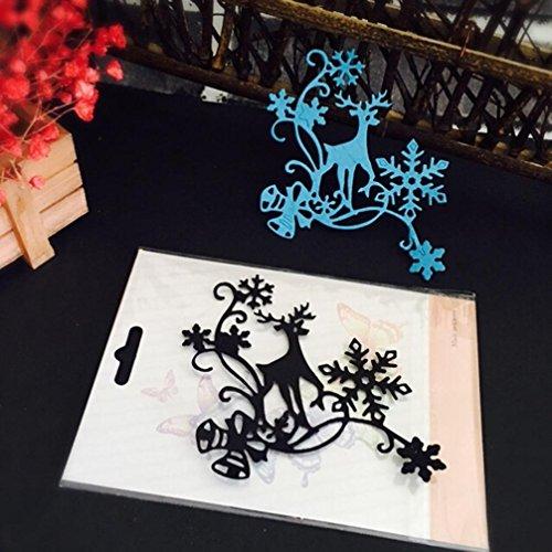 Scrapbooking Schablonen, SHOBDW Weihnachten Halloween Papier Dekor Schneiden stirbt Schablone Scrapbooking DIY Handwerk ()