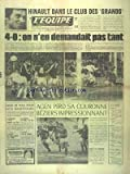 EQUIPE (L') [No 9625] du 25/04/1977 - HINAULT DANS LE CLUB DES GRANDS - RUGBY - AGEN PERD SA COURONNE - BEZIERS IMPRESSIONNANT - NOS BASKETTEURS - ATHLETISME - LE PUC - HAND - LA STELLA C'EST FINI - ESCRIME - LA FRANCE ECHOUE D'UN SOUFFLE - TENNIS - C'EST LA POLOGNE...