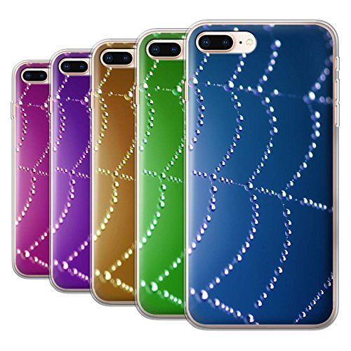 Stuff4 Gel TPU Hülle / Case für Apple iPhone 8 Plus / Türki Muster / Spinnen Netz Perlen Kollektion Pack (7 Pk)