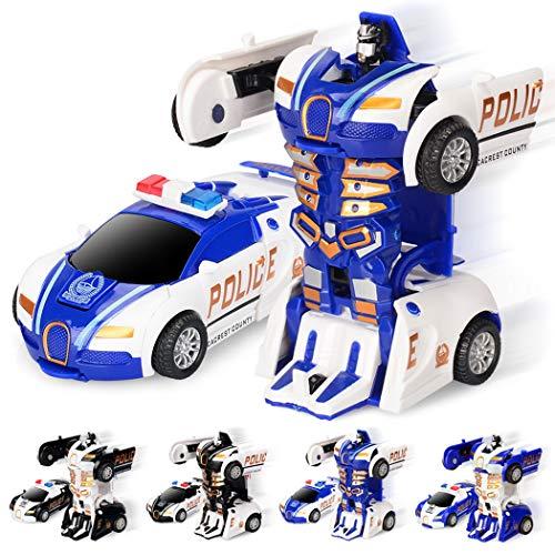 Ncient Transformers Juguete Optimus Prime,Transformers Juguete Coche Juguetes Juguete Robot de Coche Deforme para Niños(Color al Azar)