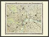 Old London Map from the Royal Atlas 1898 - Large Paper