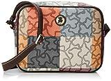 Tous Kc-332, Bolso bandolera para Mujer, Multicolor (Naranja/Marrón 595800205), 26x20x7.5 cm (W x H x L)