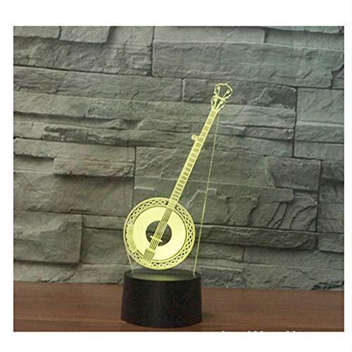 Zfkdsd 3D Led Nachtlicht Musikinstrumente Huqin Mit 7 Farben Licht Für Heimtextilien Lampe Erstaunliche Visualisierung Optisch - Erstaunlich, Musikinstrumente