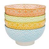 Vancasso pezzi ceramica multicolore grande ciotola da portata, porcellana, 15,2cm zuppa/miscelazione/frutta/noodle ciotola in porcellana (15.2*15.2*7.5cm)