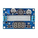 SainSmart Adjustable Boost 3~35V to 3.5~35V 5/12V DC Regulated Power Supply Voltage Converter Module with Digital Voltmeter