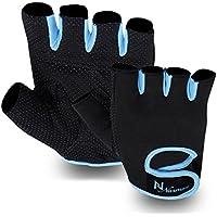 M//L Rucanor Lara Fitness fingerless Workout Lifting Gloves Gym Grip Black XS//S