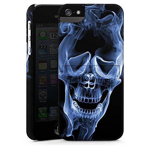 Apple iPhone X Silikon Hülle Case Schutzhülle Halloween Skull Rauch Premium Case StandUp