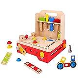 Toooky Toys Kinder Holz Faltbare Werkbank Spielzeug Spielset Alter 3+