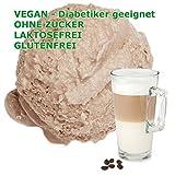 Latte Macchiato Geschmack Eispulver VEGAN - OHNE ZUCKER - LAKTOSEFREI - GLUTENFREI - FETTARM, auch für Diabetiker Milcheis Softeispulver Speiseeispulver Gino Gelati (Latte Macchiato, 1 kg)
