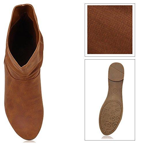 Damen Schuhe Schlupfstiefel Braun