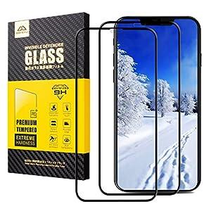 iPhone X Vetro Temperato, [2xPack] BOKEYU [2.5D Full Screen Glass] Durete 9H 2.5D Facile da Installare Pellicola Protettiva iPhone 10 / X (Noir)