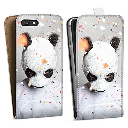 Apple iPhone 4 Silikon Hülle Case Schutzhülle Cro Merchandise Fanartikel Panda Banda Downflip Tasche weiß
